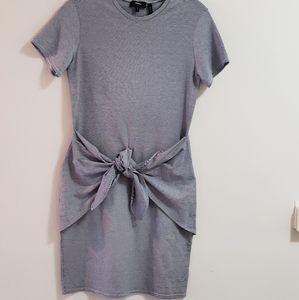 Theory Dress, Navy/Off-White Stripe, Sz S